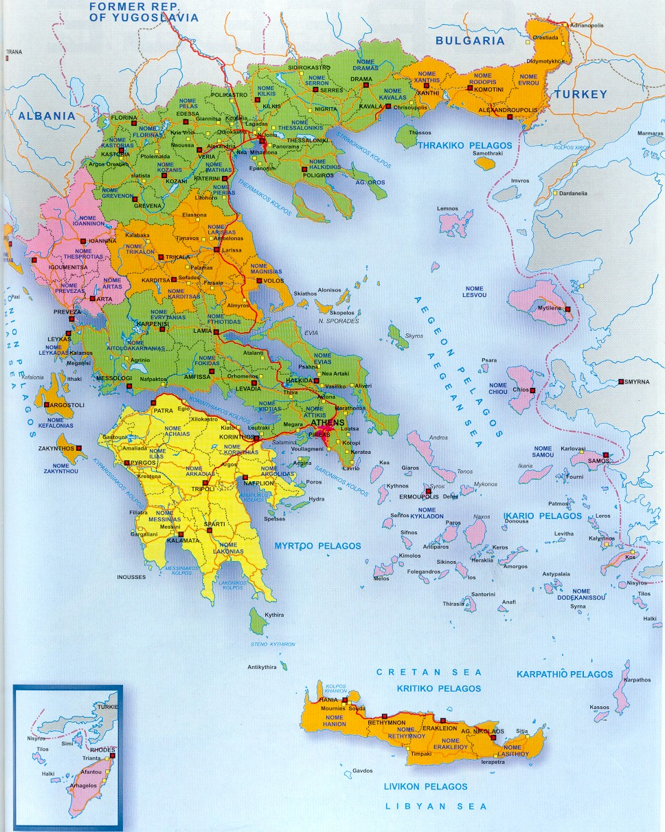 Kaart Van Griekenland Verken Griekenland